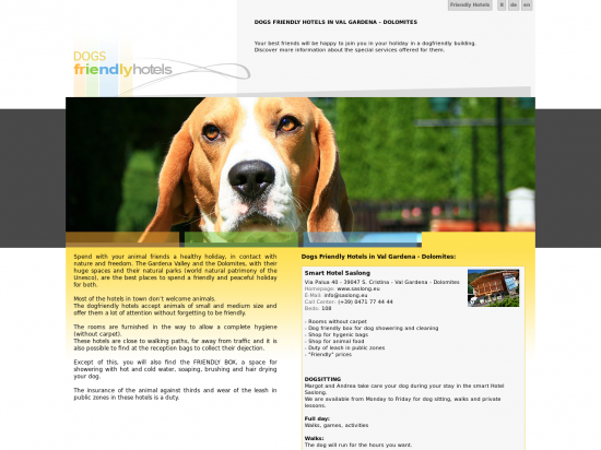 Dogs friendly Smart Hotel Saslong - approvato AIC