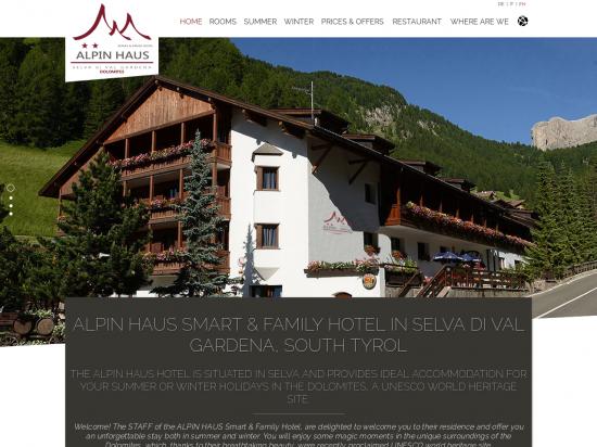 Alpin Haus Smart & Family Hotel - Casa Alpina in Selva - Val Gardena